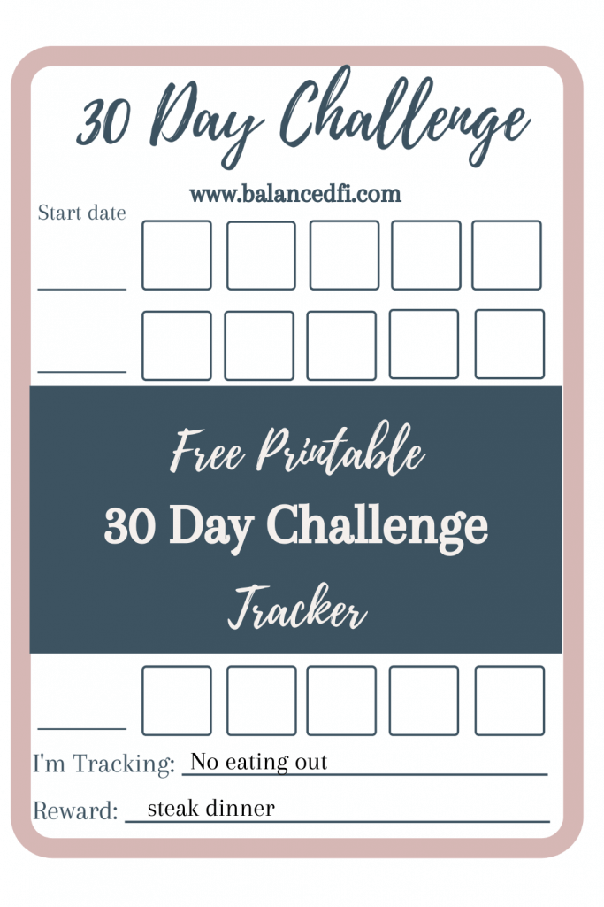 Free 30 Day Challenge Tracker - Balanced FI