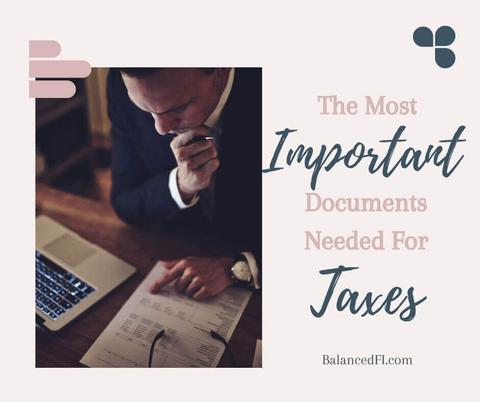 most important documents needed for taxes