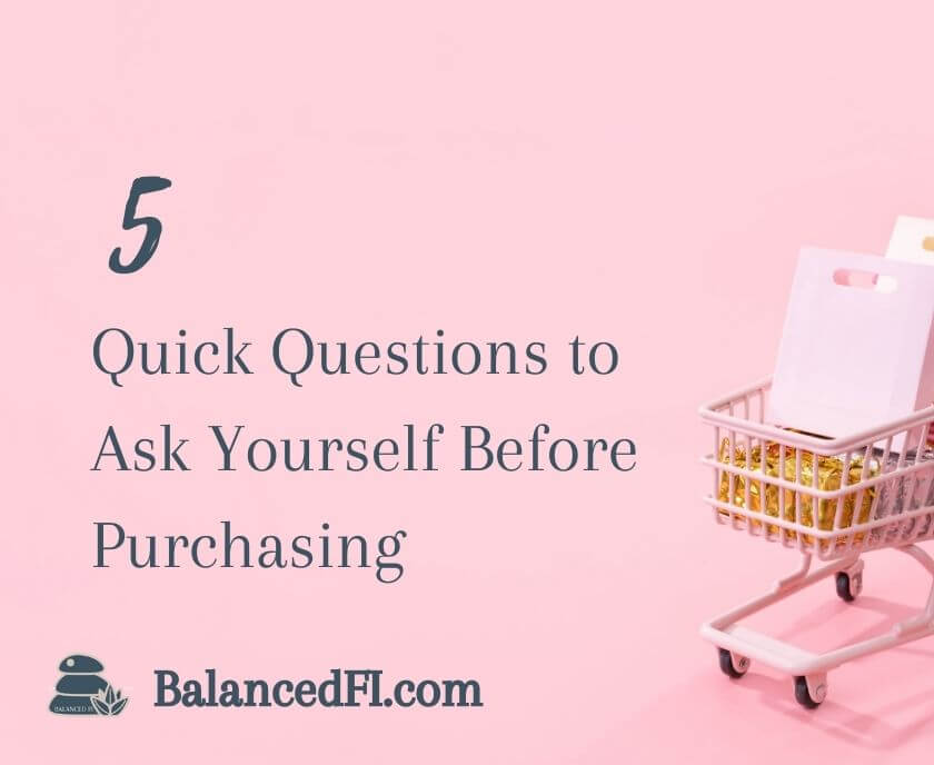 Quick Questions to Ask Yourself Before Purchasing